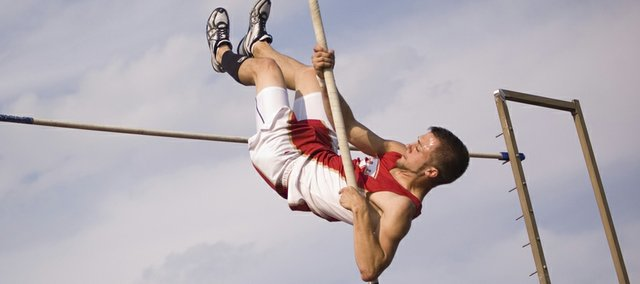 Jake Willis won the pole vault Thursday at the Tonganoxie Invitational with a mark of 12-6.
