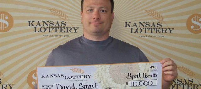 David Smart recently won $10,000 from the Kansas Lottery.