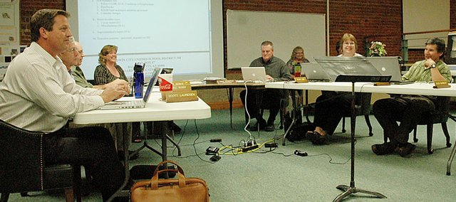 On Monday night, the Baldwin School Board discussed several large budget cuts to the 2010-2011 school year.