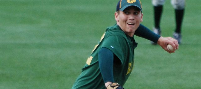 Austin Stubbs tossed a two-hitter as the Basehor-Linwood baseball team beat Holton, 10-0.
