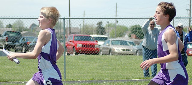 Baldwin Junior High School seventh grade sports might be on the chopping block for Baldwin School District cuts. The school board discussed the possibility of cutting seventh grade athletics Monday night. This photo was taken last May at the league track and field meet.