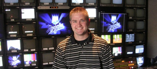 TJ McGinnis has parlayed the lessons he learned in a television production class at Bonner Springs High School into a career producing pre- and post-game shows for the Royals.
