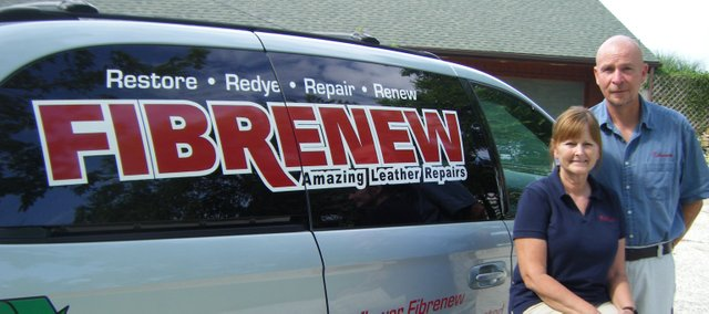 Suzette and Ron Seetin have started their own franchise of Fibrenew, an international leather repair company, stationed out of their Basehor home. The company specializes in repairing and re-dyeing leather, vinyl, plastic and fabrics.