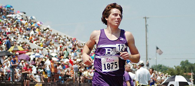 Baldwin High School junior Tony Weiss placed sixth in the 1,600-meter run Saturday afternoon. He also placed third in the 3,200-meter run on Friday morning. He ran personal-best times in both races.