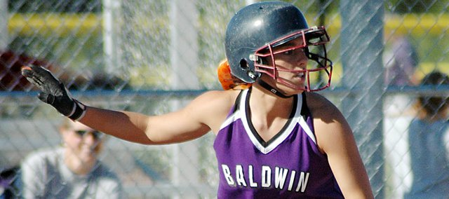 Baldwin High School senior MacKenzie Flory was recently named to the second team All-Frontier League as an outfielder.