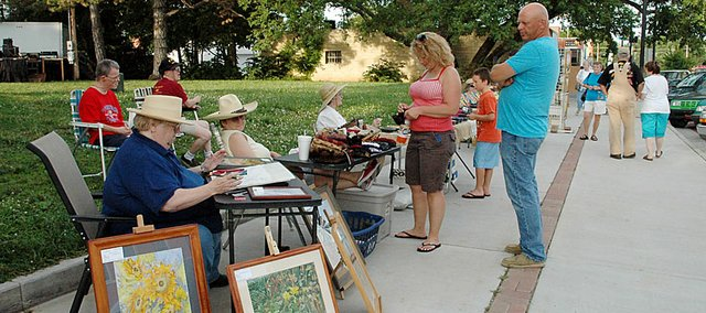 Baldwin Community Arts Council's first Art Walk of the summer will be from 7-9 p.m. Friday in downtown Baldwin City.