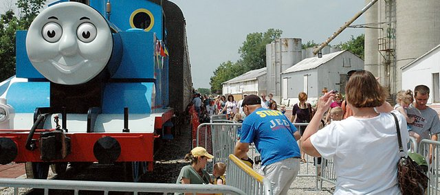 Friday&#39;s photo session after the Thomas the Tank Engine trip was repeated many times during his two-weekend stay in Baldwin City.
