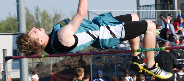 Basehor-Linwood senior Bobby Courtney placed second in the high jump at the Bobcat Relays.