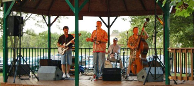 Bolt Upright! performs at the 2010 Dairy Days in Basehor City Park. The band will make another appearance in the park July 9 for a concert organized by the Basehor Community Library.