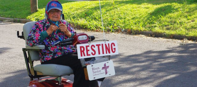 "Edna Kloepper, known around Bonner Springs as ""Scooter Girl,"" was hit by a car on Friday, July 16, and later died in the hospital on Saturday, July 17. Kloepper taught more than 600 children during her 44 years of teaching."