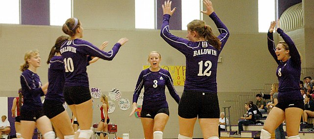 Baldwin High School volleyball is one of several teams affected by the new Frontier League schedules. The Bulldogs will play each league team one night, with varsity, junior varsity and freshman teams all playing on the same night. Basketball and soccer schedules are also affected this year.