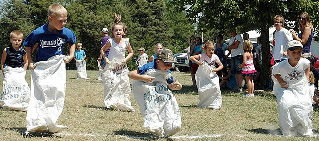 It was a photo-finish in this sack race at the Vinland Fair Friday. There were plenty of other close races, too.