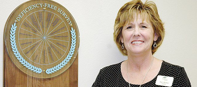 Baldwin City's Sue Brown won the National Centers for Assisted Living Director of the Year.