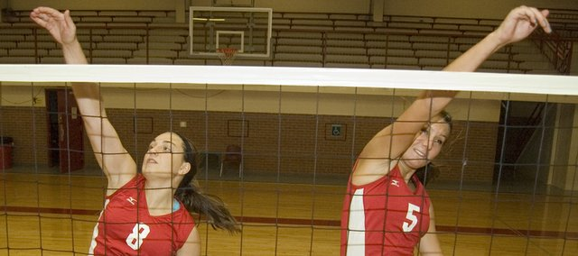 Tonganoxie High volleyball seniors Danielle Miller and Molly OHagan lead a versatile Chieftains team that wants to return to the state tournament this fall. The THS season begins at 7 p.m. Tuesday with a home match against Atchison.