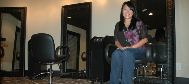 Holly Mikkelsen is the owner of Studio H2M, a new full-service salon at 515 Morse in Bonner Springs.