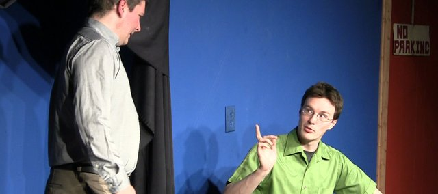 John Robison, left, and Keith Curtis perform as their improvisational group Dictionary Soup. The comedy duo was recently chosen to join 30 other national groups at Duofest 2010, a festival devoted to showcasing two-person improvisational groups Sept. 30-Oct. 3 in Philadelphia.