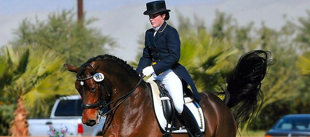 Tessa Dick, a 2007 graduate of Baldwin High School, was on a dressage team that placed third at this summer's North American Junior and Young Rider Championships.