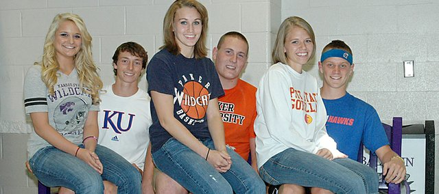 The 2010 Baldwin High School Homecoming queen and king will be crowned at halftime of Friday's game. The senior candidates are (from left) Claire Glover, Carson Barnes, Ally Foye, Jesse Austin, Michaela Krystof and Kyle Pattrick.