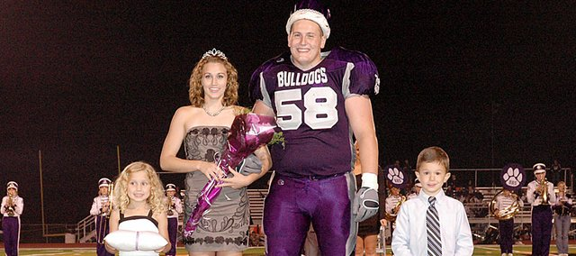 Baldwin High School seniors Ally Foye and Jesse Austin were crowned homecoming queen and king Friday night. The crown and tiara bearers were Ella Lewis, daughter of Greg and Lisa Lewis, and Caden Englert, son of Eric and Sarah Englert.