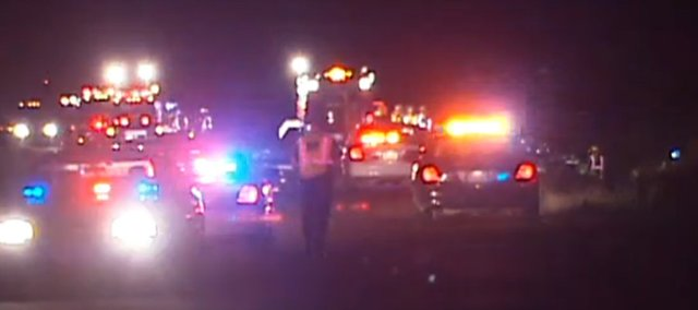 Three people, including a Basehor man and an Edwardsville man, were killed Sunday night in an accident on Kansas Highway 32 at Leavenworth County Road 1.