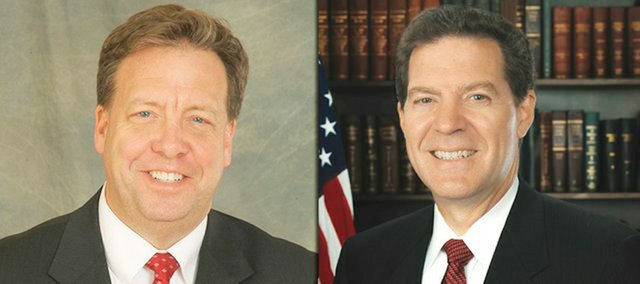 Democrat Tom Holland of Baldwin City, left, and Republican Sam Brownback, Topeka, want to be Kansas' next governor.
