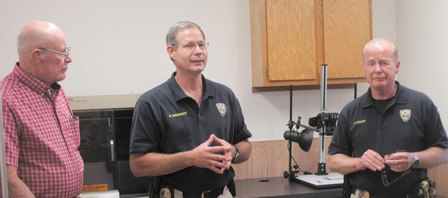 A forensic lab is among the new additions for the Bonner Springs Police Department, which showed off its new offices to City Council members on Tuesday.