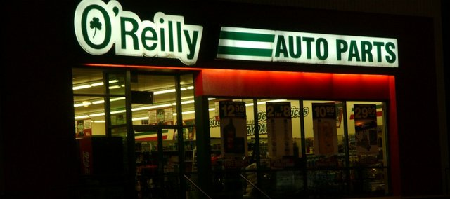 By late next spring, an O'Reilly Auto Parts store, such as this one in Lawrence, should open in Tonganoxie.