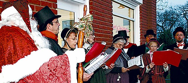 Victorian carolers and Santa Claus will return Saturday to Baldwin City as part of a full day of activities to kick off the holiday season.