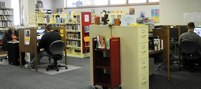 The Baldwin City Public Library is in need of more space so that it can expand its collections of books and videos and serve more groups in its popular meeting room, library board members told the city council on Monday.