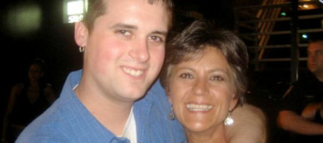 Andrew Eli, pictured with his mother, Diane Eli Caldwell of Shawnee.
