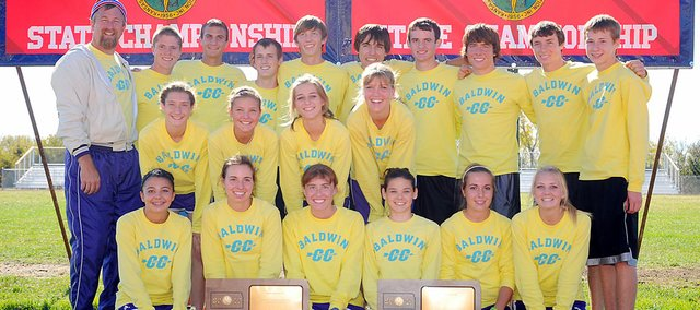 Baldwin High School's cross country teams swept the team titles at the Class 4A state meet in late October. It's the first time since 2005 both teams have won state titles in the same year.