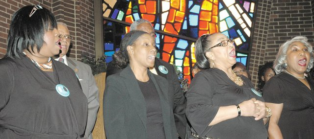 The NAACP 100 Year Choir performs at the 2010 Bonner Springs/Edwardsville Martin Luther King Jr. Day Celebration.