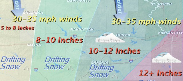 The National Weather Service is predicting a major winter storm for the region, beginning with icing throughout the day Monday, which is expected to turn into snow by Monday night and blizzardlike conditions throughout much of Tuesday.