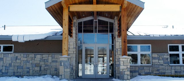 The new Tomahawk Hills Golf Course clubhouse has a modern-prairie look and lots of windows for a light, bright interior. The clubhouse, 17501 Midland Drive, is expected to open to the public within the next few weeks. The old clubhouse next door will be torn down.