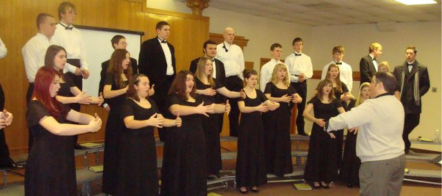 Chieftain Singers involved in singing exercise at University of Missouri-St. Louis