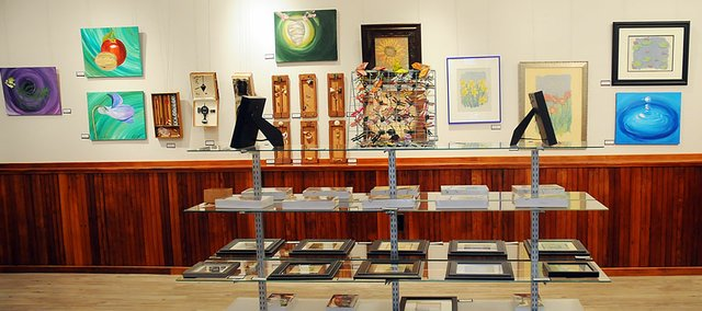 Marsene Feldt's art display is available for the public to view in the Lumberyard Arts Center. Her display will run through March 26.