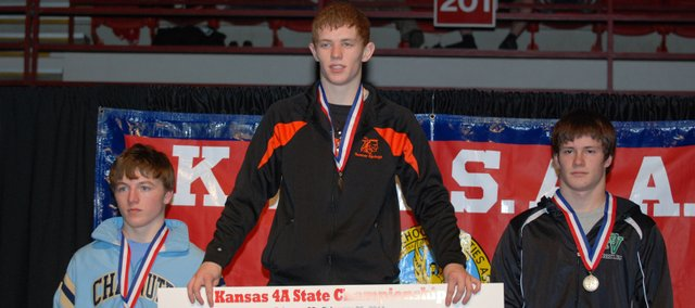 Bonner Springs senior Caleb Seaton is the Class 4A state champion at 125 pounds.
