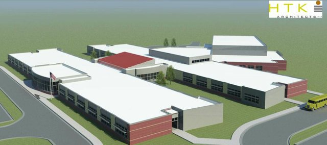 HTK Architects' current renderings of the new Tonganoxie Intermediate School on the district's 80 acres, which is the same land where Tonganoxie Middle School was constructed following a successful 2004 bond issue.