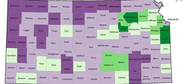 Leavenworth County was one of 11 in Kansas to grow by more than 5 percent in the last decade, according to 2010 census information released by the U.S. Census Bureau.