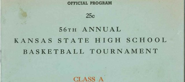 A program from the 1967 state basketball tournament in Hutchinson. Tonganoxie placed fourth that year. The Kansas State High School Activities Association is celebrating 100 years of basketball this week.
