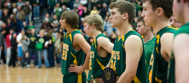 Second place wasn't what the Basehor-Linwood boys wanted at the Class 4A substate tournament, but the Bobcats were forced to watch Sumner Academy accept the first-place trophy.