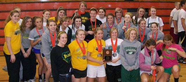 The Basehor-Linwood girls won their fourth straight Class 4A powerlifting state championship on Saturday in Abilene.