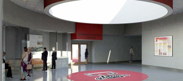 Renderings of THS lobby.