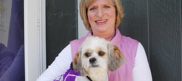 Shawnee resident Barbara McPherson, a retired school principal, started Boomeroos, which sells custom-made collegiate fleece jackets for dogs. The name of her business was inspired, in part, by her shih tzu, Boomer, who she adopted after he was rescued from a puppy mill.