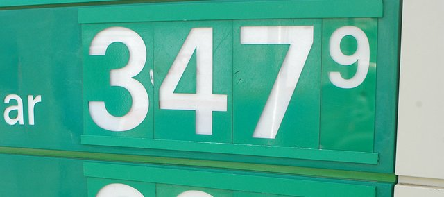 Regular gasoline was priced at more than $3.47 per gallon Tuesday, March 22, 2011, at the BP station at Shawnee Mission Parkway and Pflumm Road.