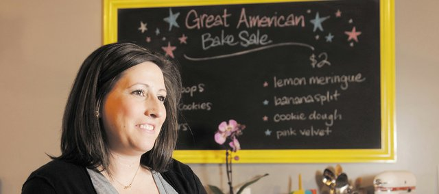 Cami SanRomani is the owner of Cami&#39;s Cake Co., a bakery with a storefront in downtown Eudora. Her husband, Dustin, worked three jobs so she could get her business off the ground. Today, her schedule is filled with private events, charitable fundraisers and wedding cake tastings.