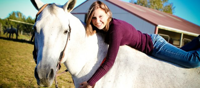 Hannah Gee has been around horses much of her life. They also have helped her in winning an Kansas FFA proficiency award in equine science. Gee, a Tonganoxie High School senior, has the opportunity to win the award at the national level this fall, which also is when she'll begin classes at Fort Scott Community College on a horse judging scholarship.