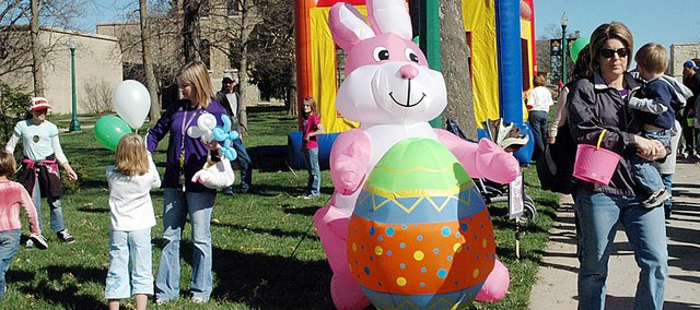 The Rainbow Experience Preschool Easter event is scheduled for Saturday. It has moved from Baker University's to the Baldwin State Bank parking lot.