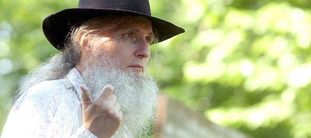 Kerry Altenbernd will again return Saturday as a tour guide at the Black Jack Battlefield and Nature Park in the disguise of John Brown for the opening of the site's summer season.
