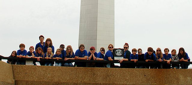 The Baldwin City Children's Choir performed in St. Louis last weekend. The group took a picture in front of the Gateway Arch.